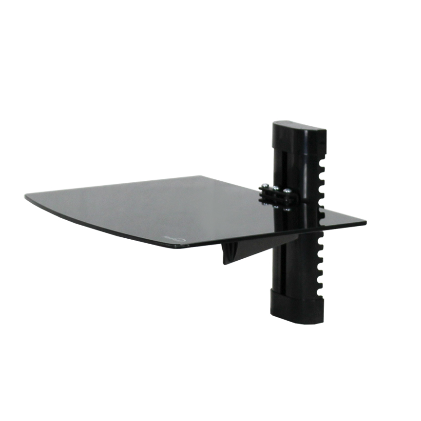 1 Tier Medium Glass Shelf Wall Mount Under Tv Cable Box