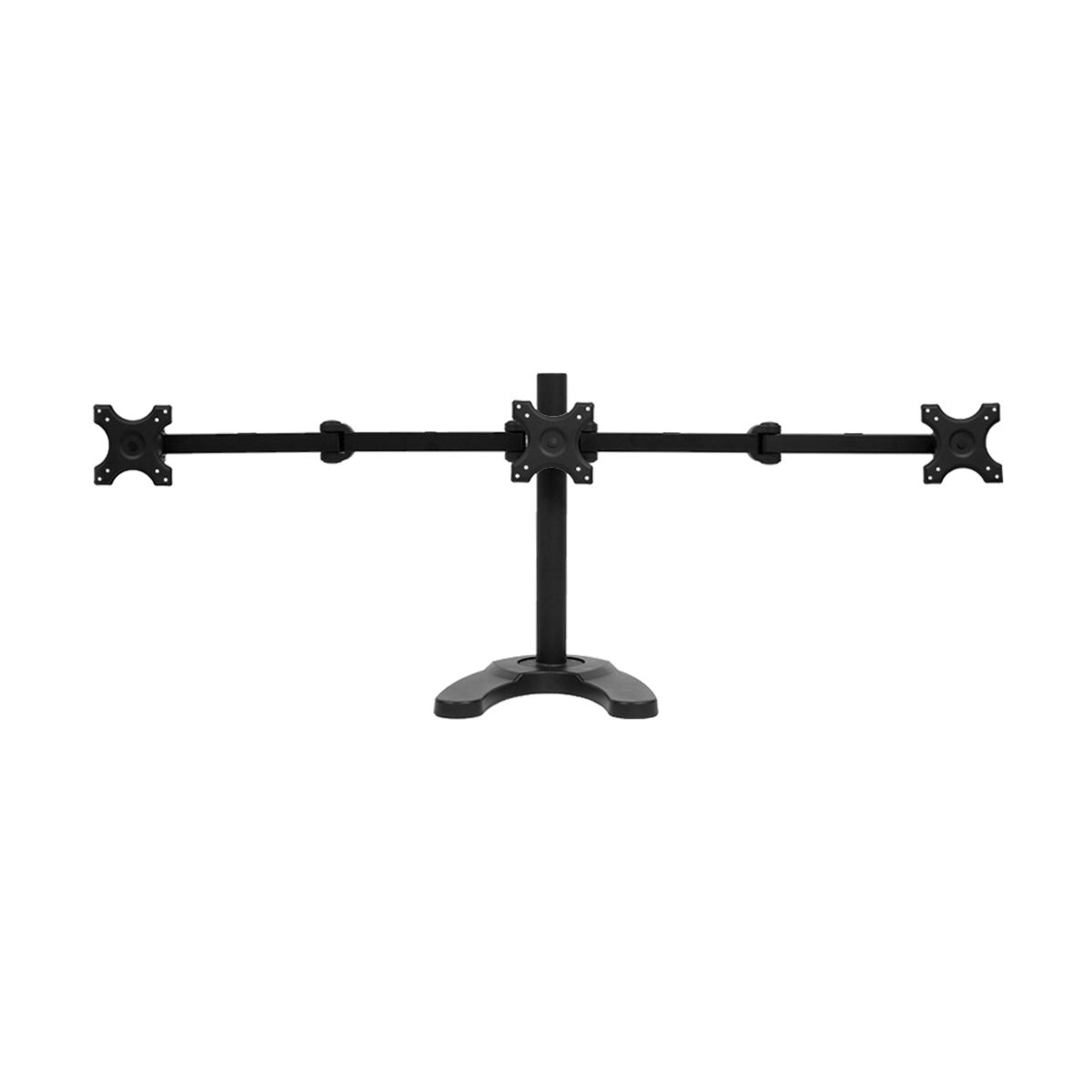 triple lcd monitor desk stand mount free standing adjustable 3 screens upto 24 ebay. Black Bedroom Furniture Sets. Home Design Ideas