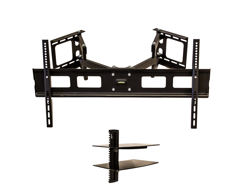 corner swivel arm wall mount bracket lcd tv led flat 37 42. Black Bedroom Furniture Sets. Home Design Ideas