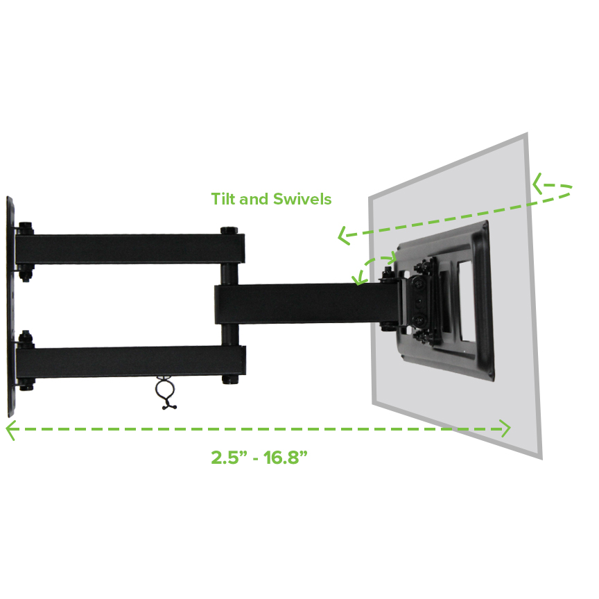 Full Motion Tv Wall Mount Corner Swivel Led Lcd 42 46 48