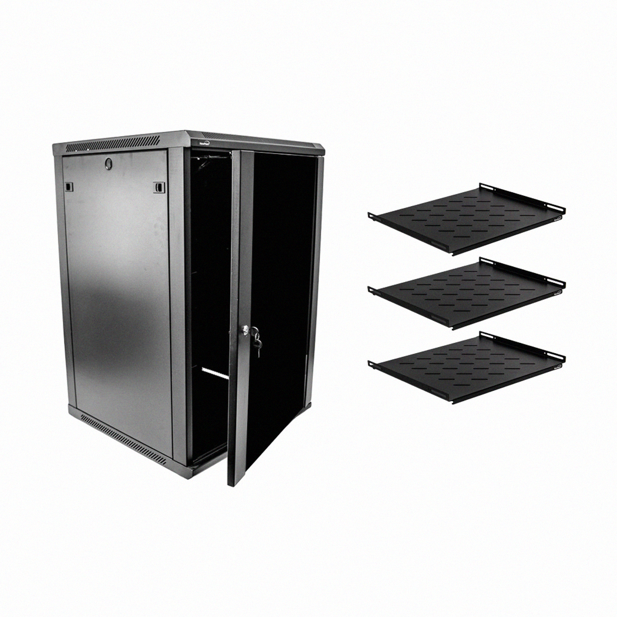 18u it wall mount network server data cabinet enclosure 24 for How to increase cabinet depth