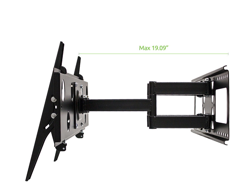 dual arm full motion wall mount bracket for samsung un60h6350 60 inch tv new ebay. Black Bedroom Furniture Sets. Home Design Ideas